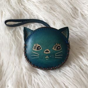 Blue Cat Coin Purse and Wristlet
